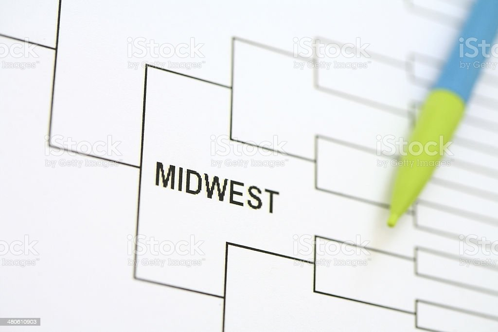 National Championship Bracket - MidWest royalty-free stock photo