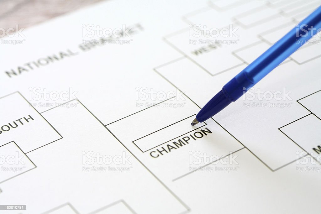 National Championship Bracket stock photo