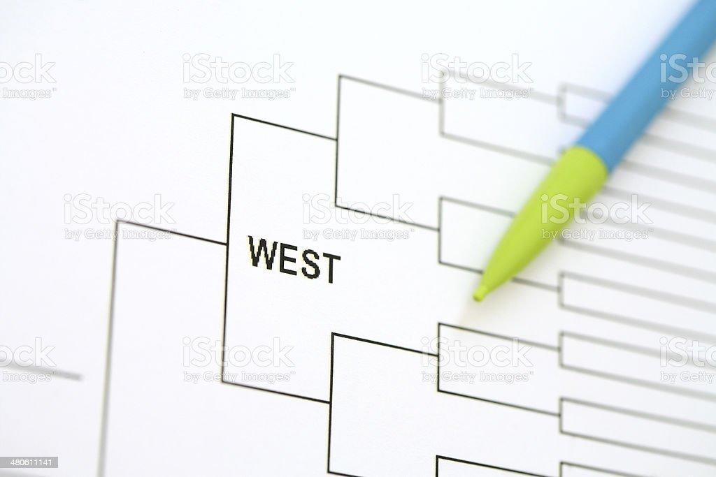 National Championship Bracket - West stock photo