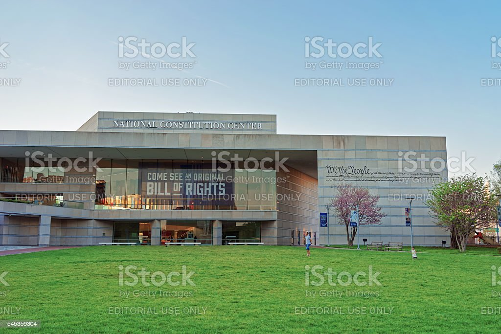 National Constitution Center in Philadelphia stock photo