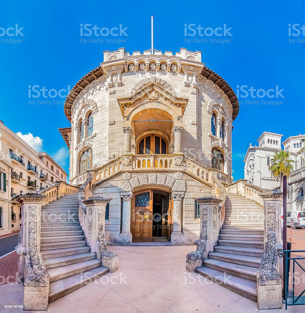 National court house of Monaco stock photo