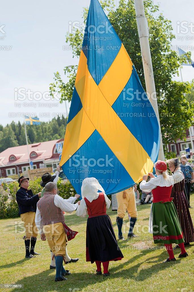 National day celebration stock photo