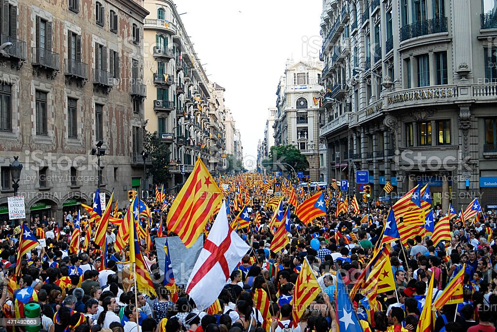 National Day of Catalonia stock photo