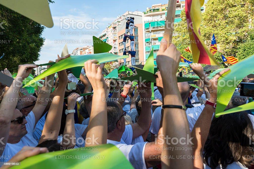 National Day of Catalonia stock photo