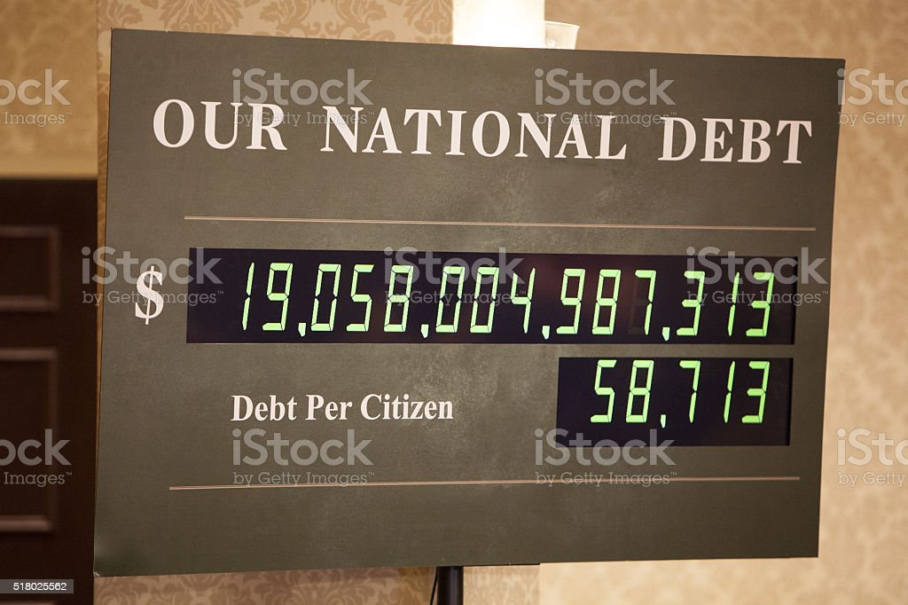 National Debt stock photo