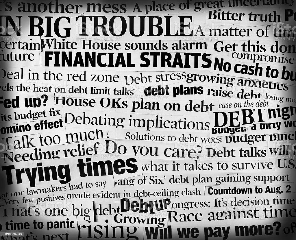 U.S. National debtcollage stock photo
