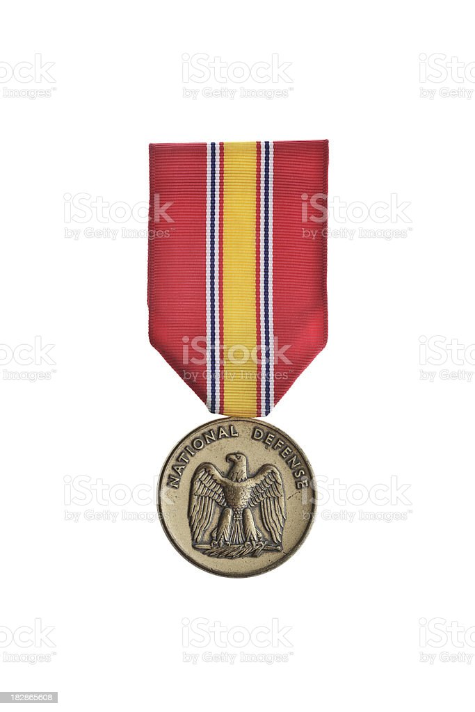 National Defense Medal royalty-free stock photo