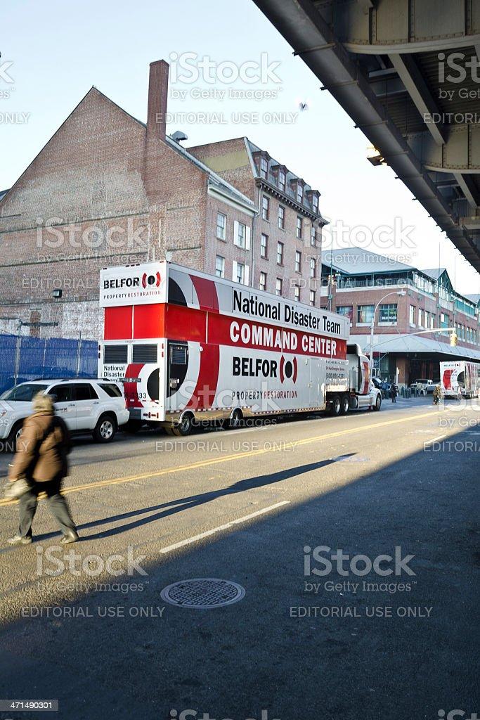 National Disaster Team, Belfor, Command Center Truck, New York. royalty-free stock photo
