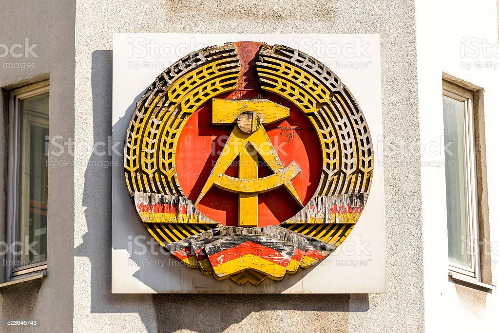 National Emblem of the German Democratic Republic stock photo