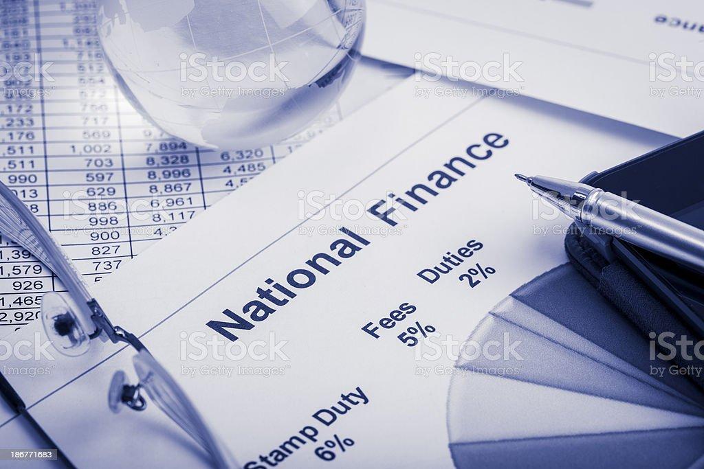 National Finance royalty-free stock photo