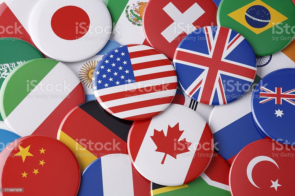 National flag Badge stock photo