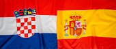 National flag - Croatia and Spain