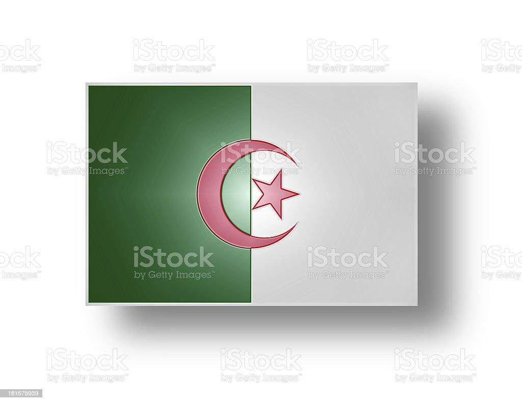 National flag of Algeria (stylized I). stock photo