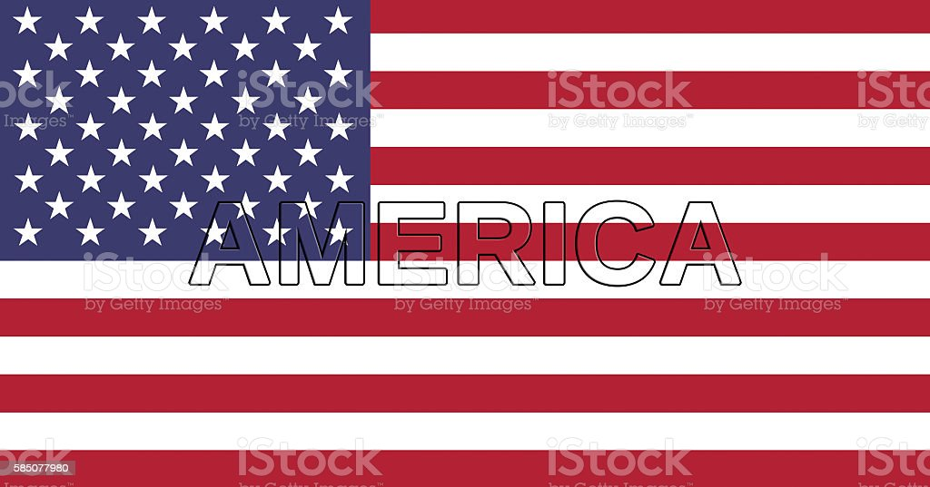 National Flag of America Text stock photo