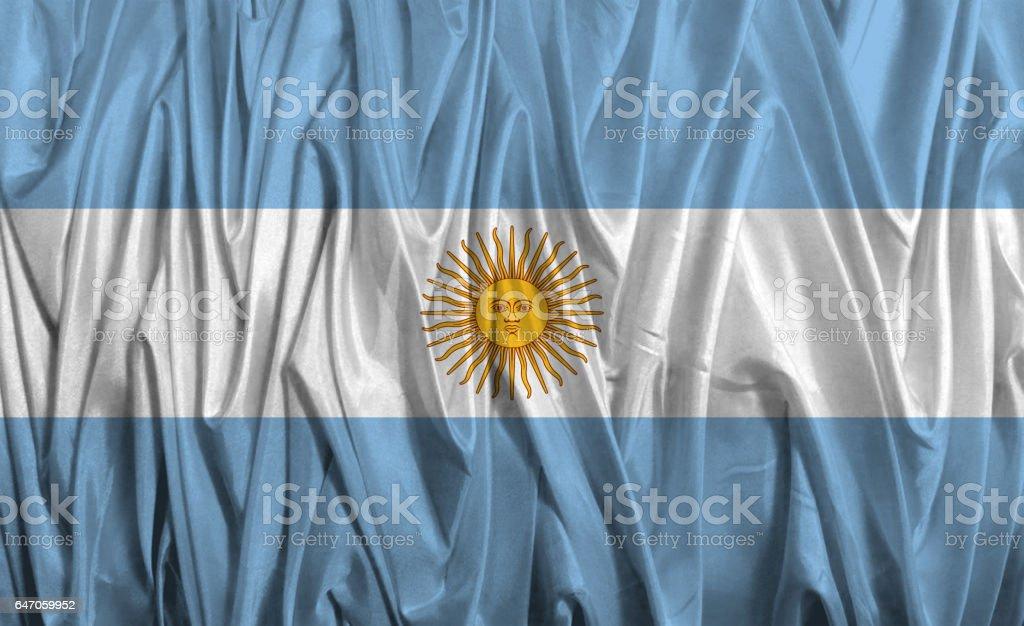 National flag of Argentina stock photo