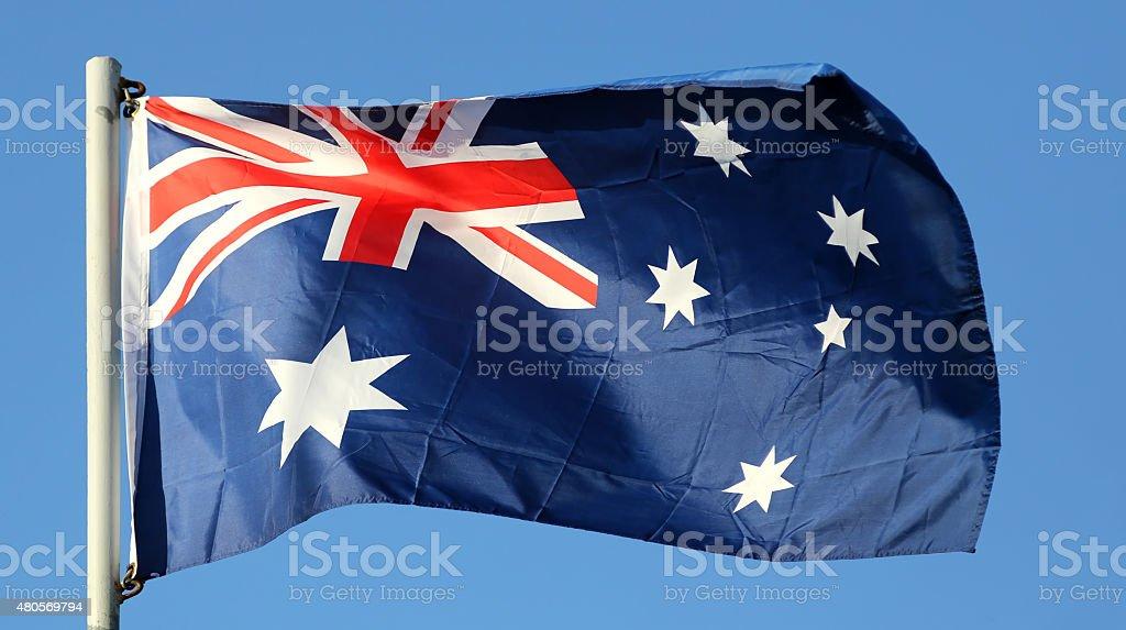 National flag of Australia stock photo