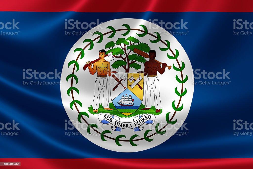 National Flag of Belize stock photo