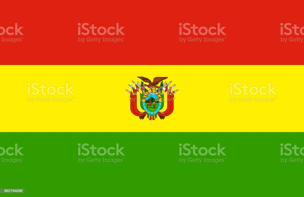 National flag of Bolivia stock photo