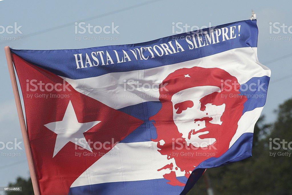 National flag of Che Guevara stock photo