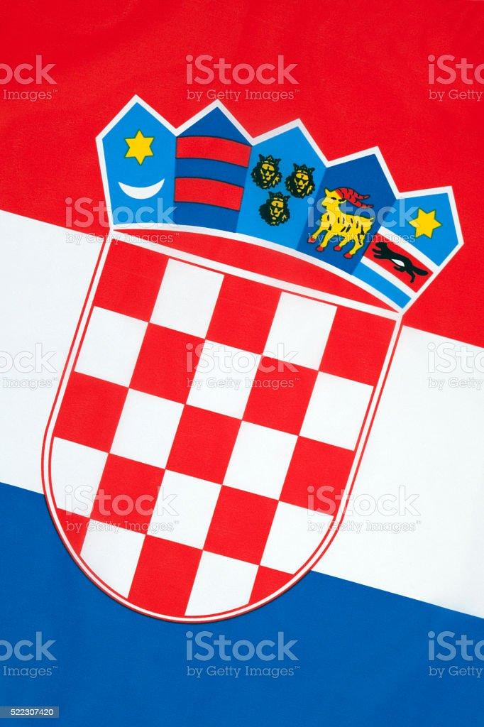 National Flag of Croatia stock photo
