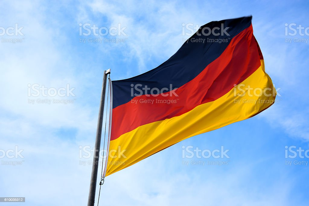 National flag of Germany stock photo