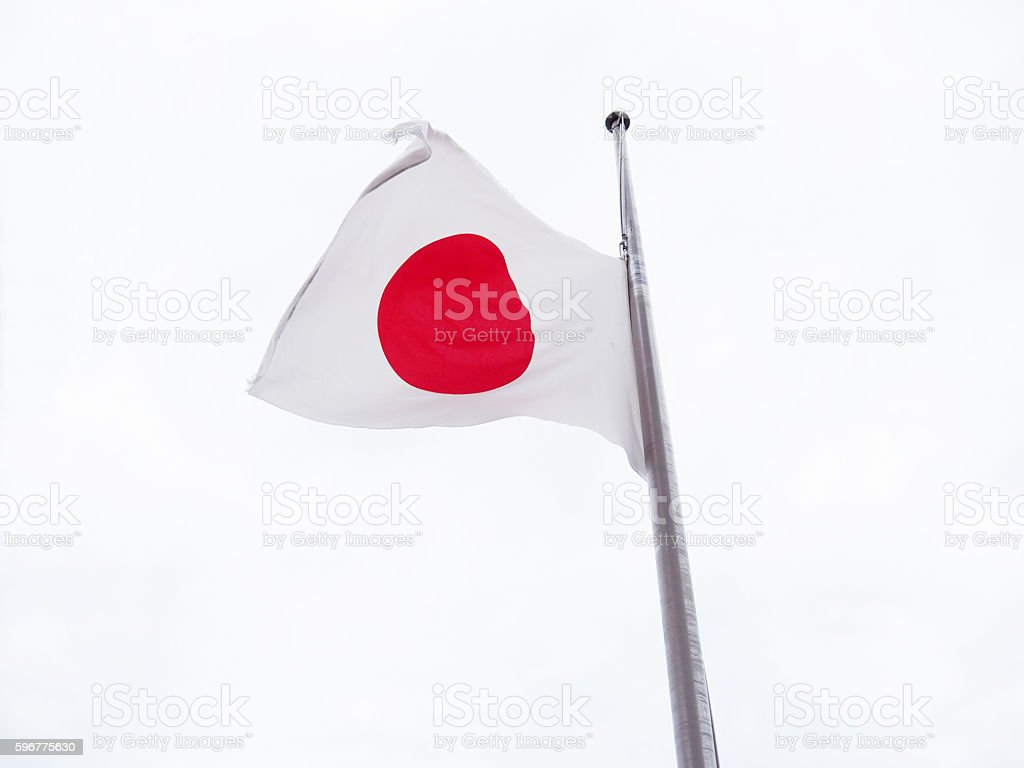 National Flag Of Japan stock photo