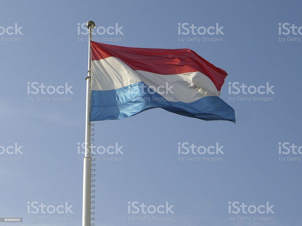 National Flag of Luxembourg stock photo