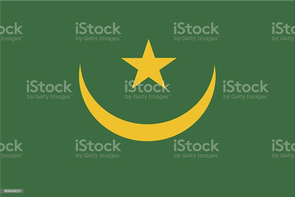 National flag of Mauritania stock photo