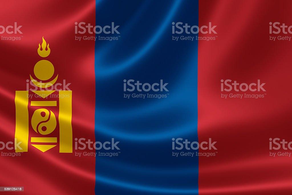 National Flag of Mongolia stock photo