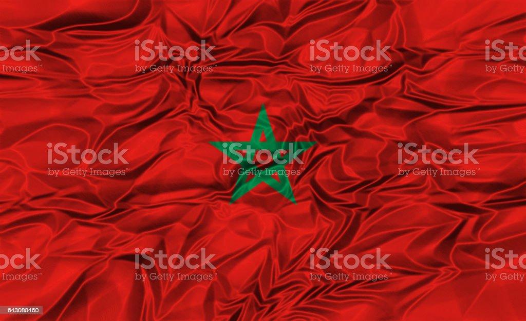 National flag of Morocco stock photo