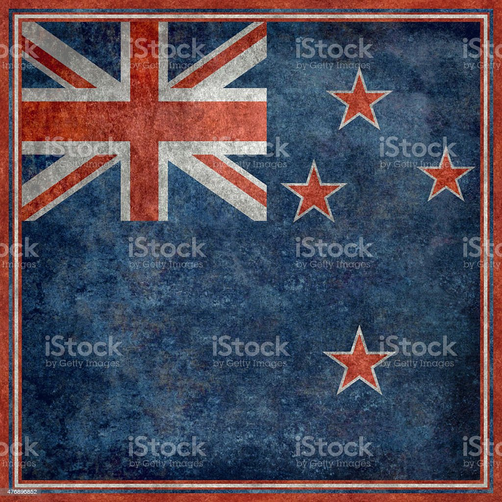 National flag of New Zealand stock photo
