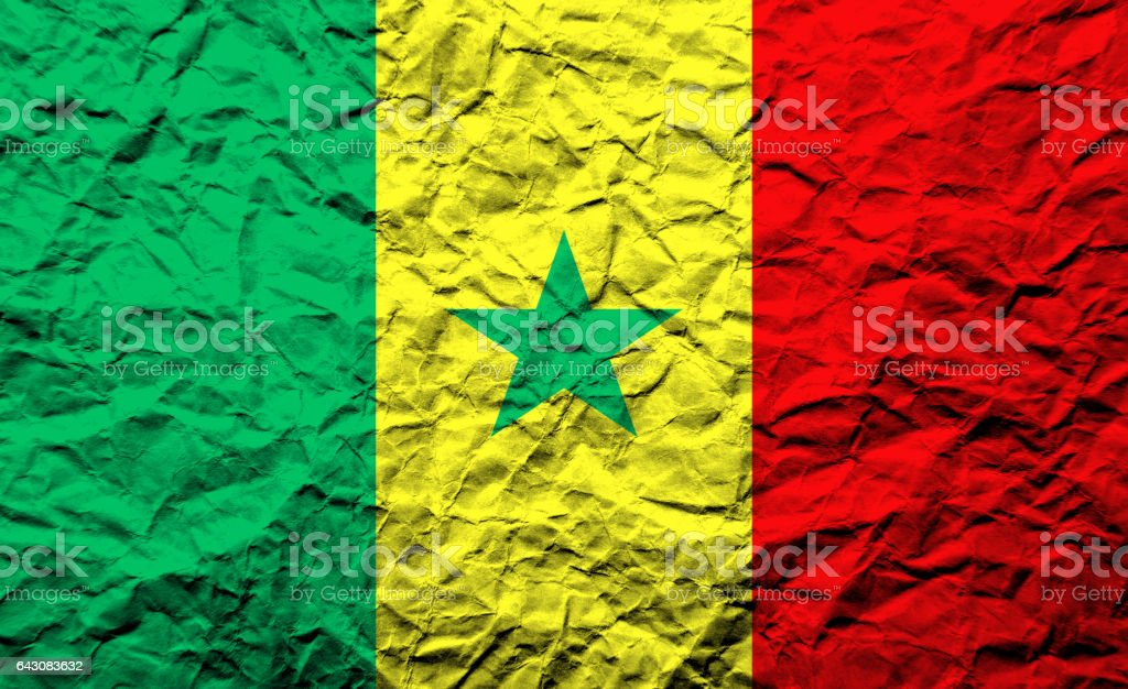 National flag of Senegal stock photo