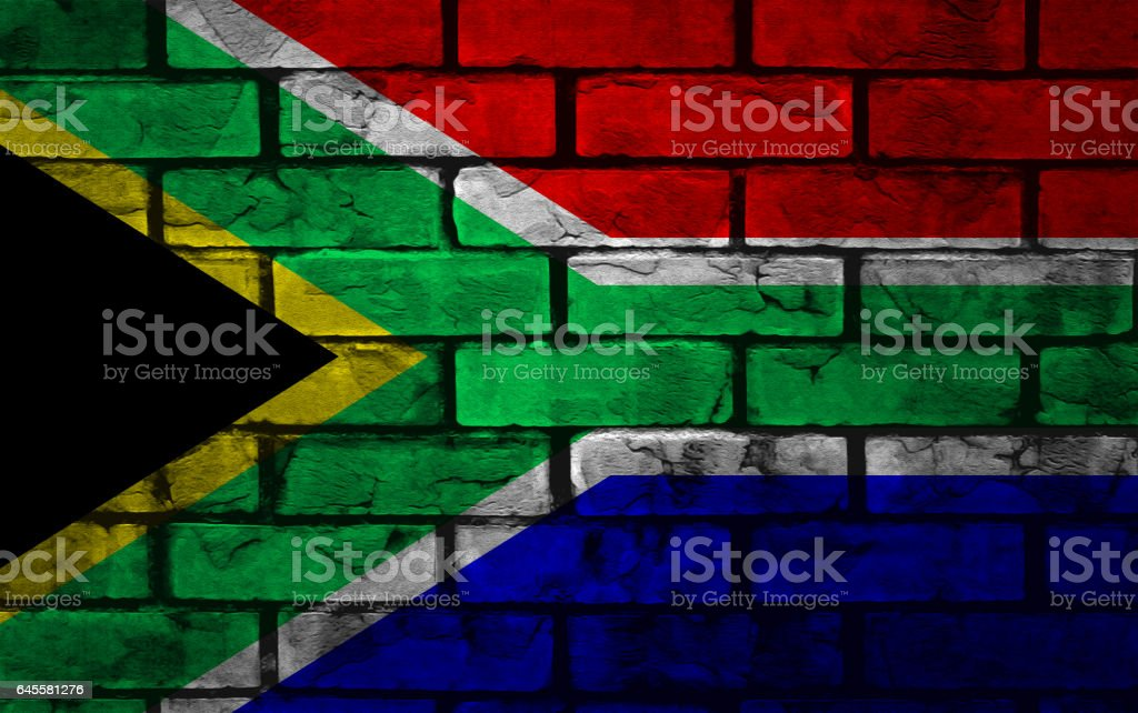 National flag of South Africa stock photo