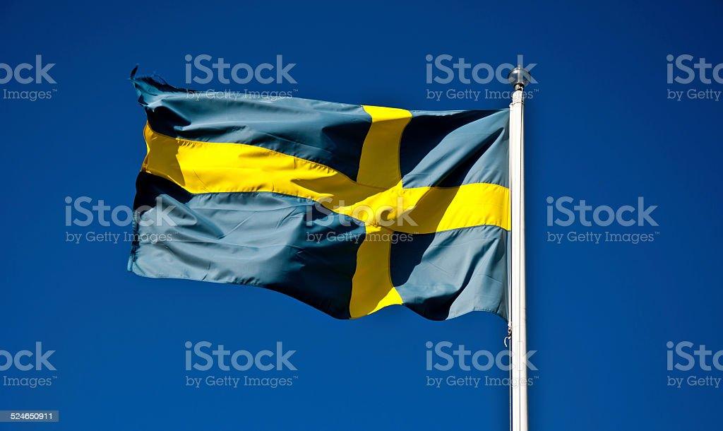 National Flag of Sweden stock photo