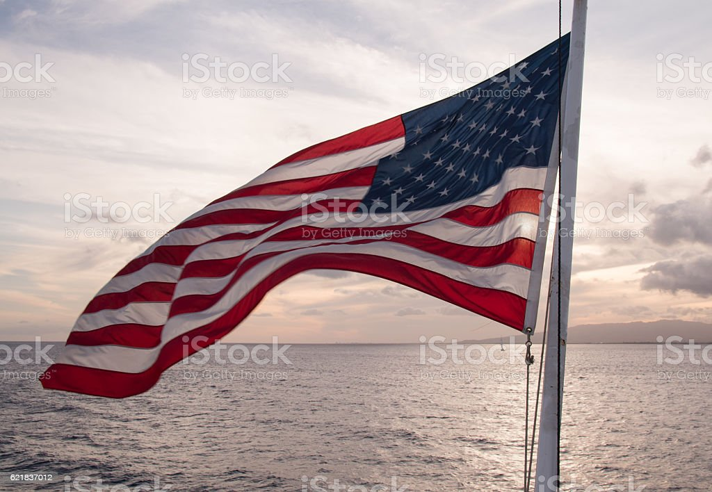 National flag of U.S. stock photo