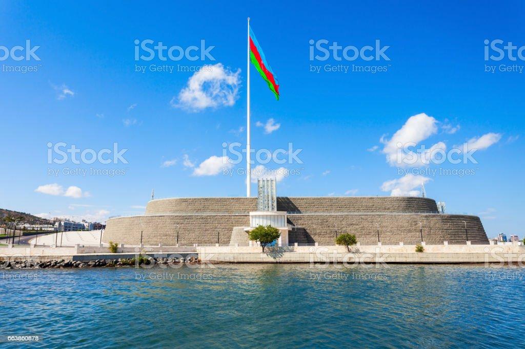 National Flag Square, Baku stock photo