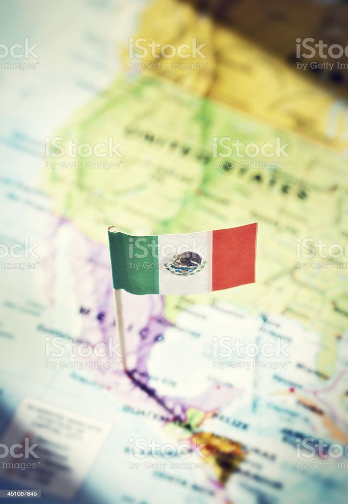 National Flag Stuck Into Mexico City On Map stock photo 451067845 – Mexico City on Map