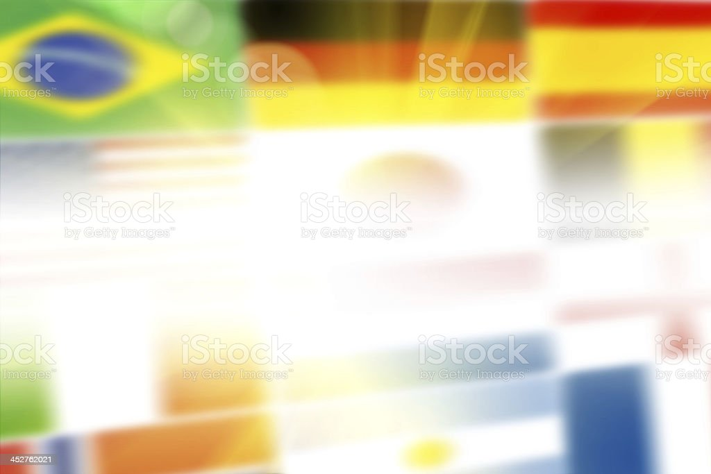National flags abstract background royalty-free stock photo