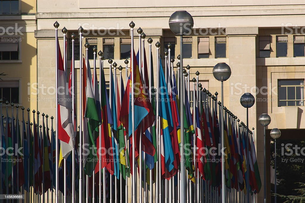 national flags line royalty-free stock photo