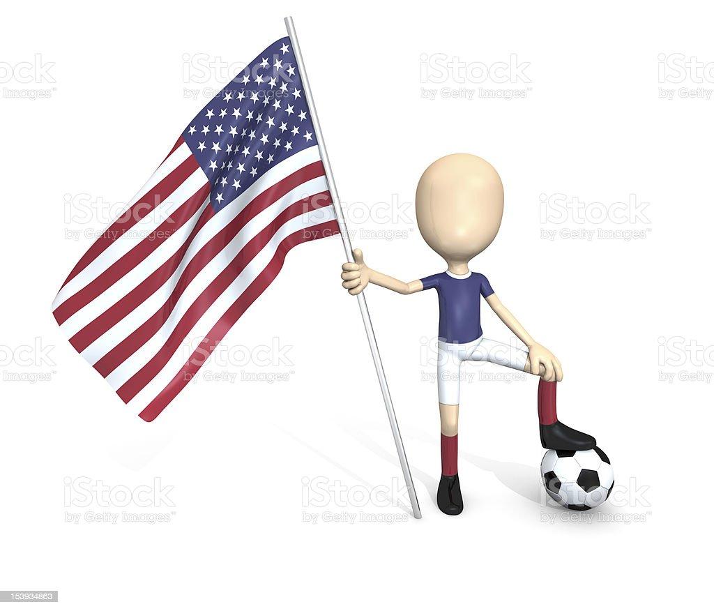 Equipo nacional de fútbol: UNIDOS. foto de stock libre de derechos