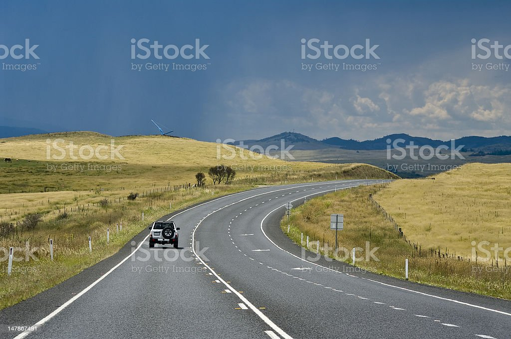 National freeway, state New South Wales. Australia. royalty-free stock photo