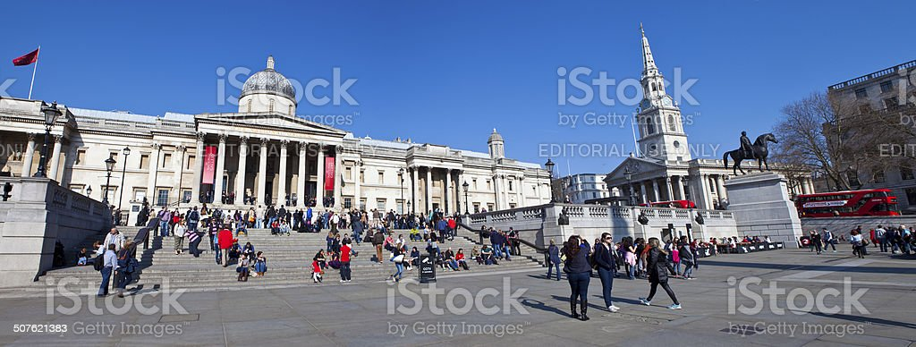 National Gallery and St Martin in the Fields Church stock photo