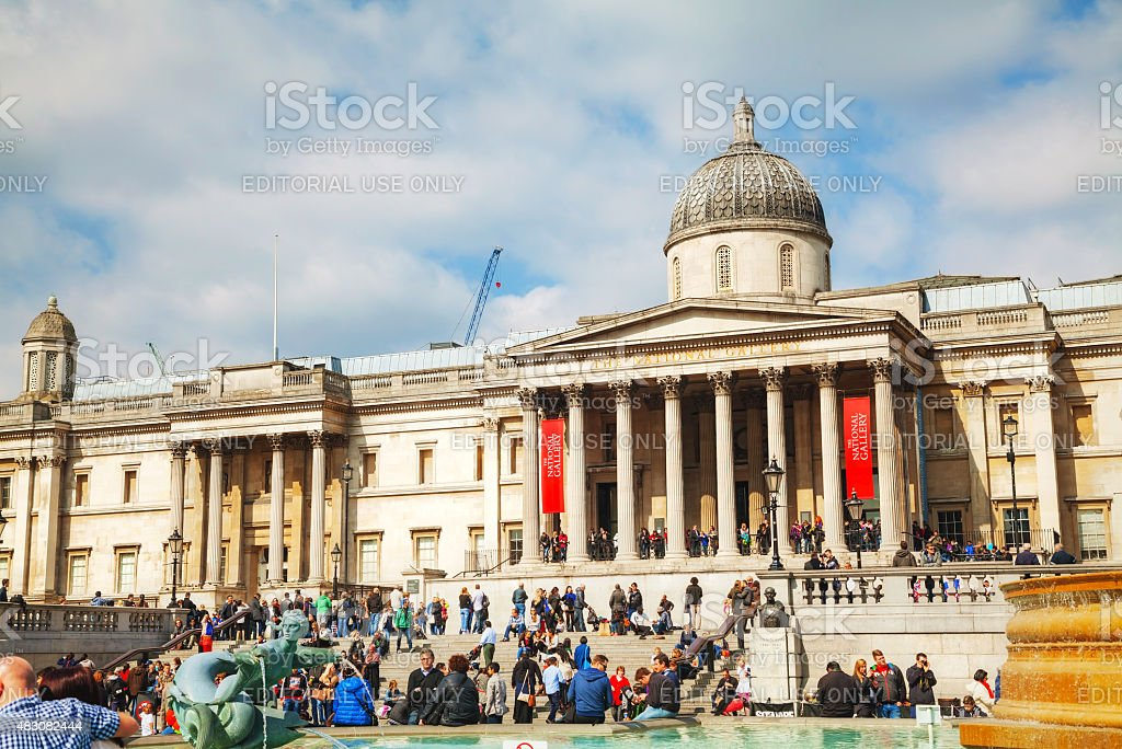 National Gallery building in London stock photo