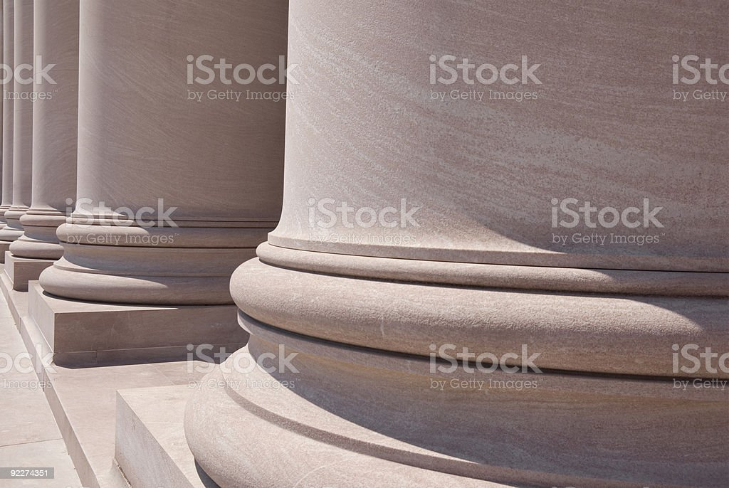 National Gallery Columns stock photo