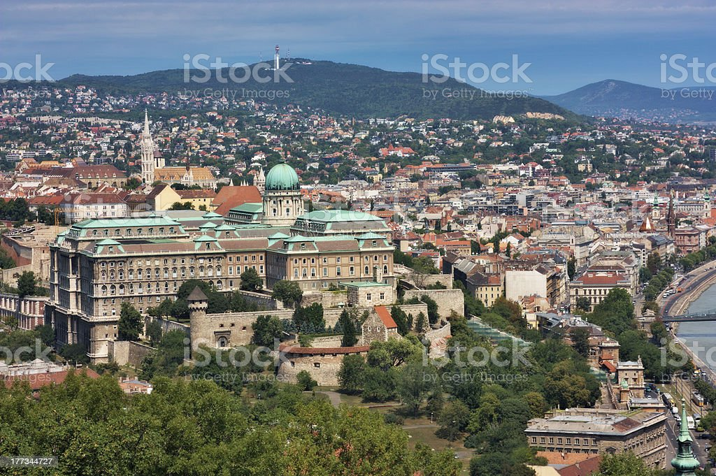 National gallery in Budapest city, Hungary royalty-free stock photo