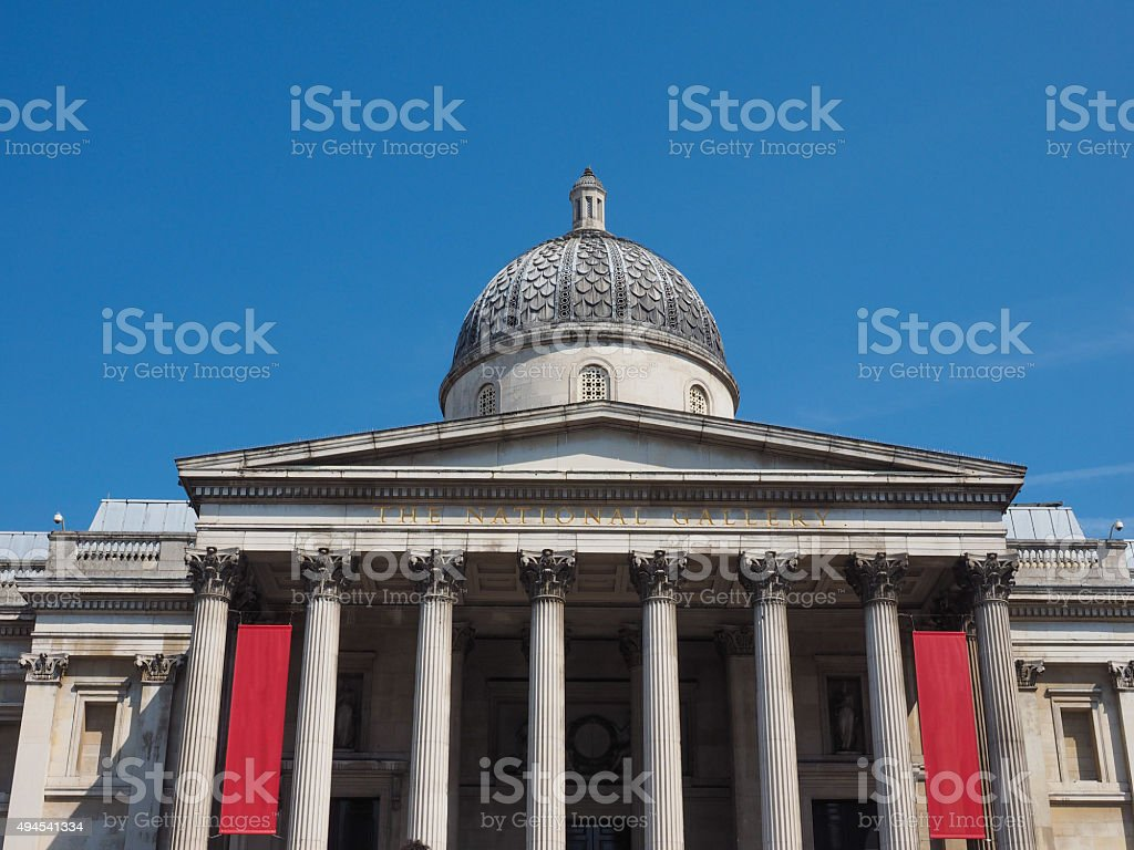 National Gallery in London stock photo