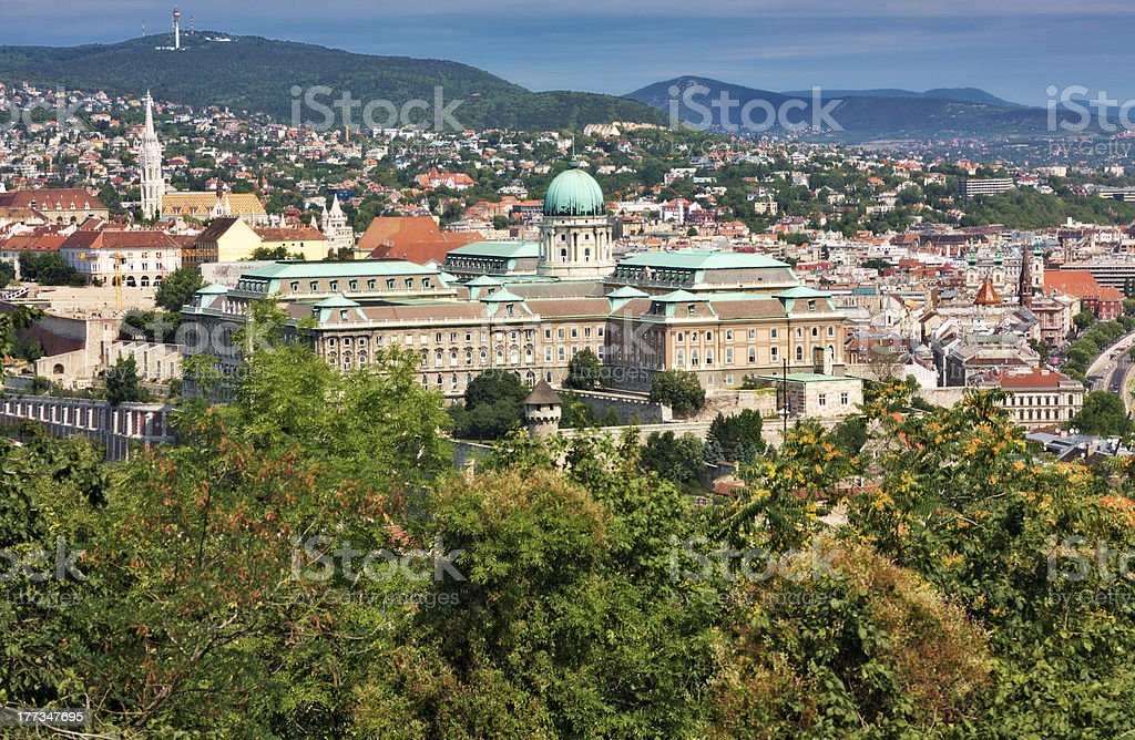 National gallery in the Buda part of Budapest city Hungary royalty-free stock photo