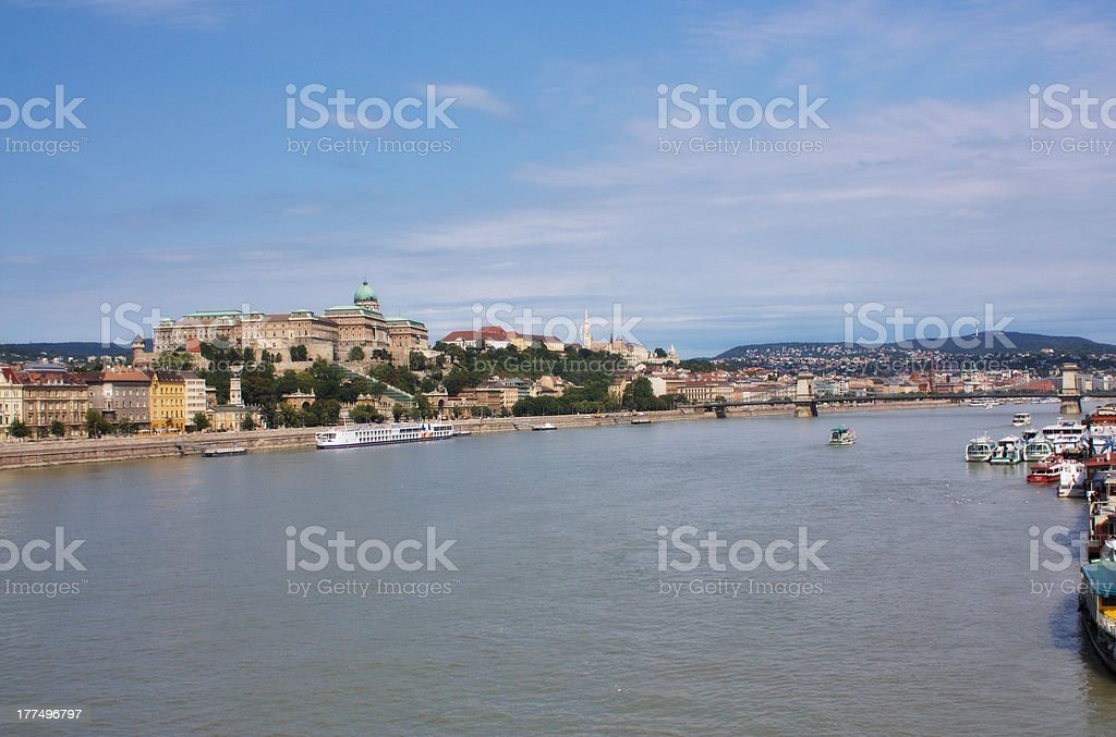 National gallery in the Buda part of Budapest royalty-free stock photo