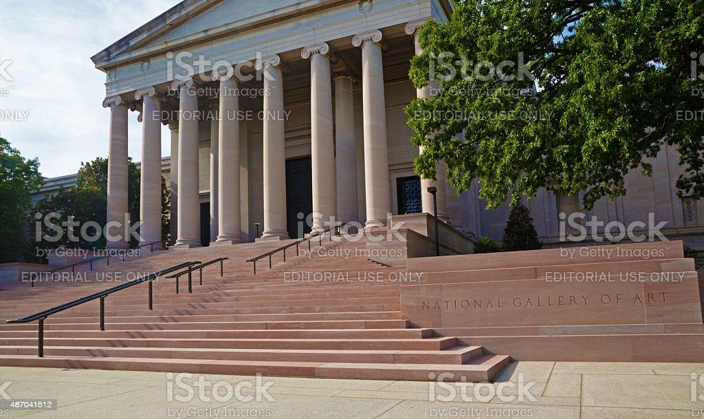 National Gallery in Washington DC, horizontal stock photo