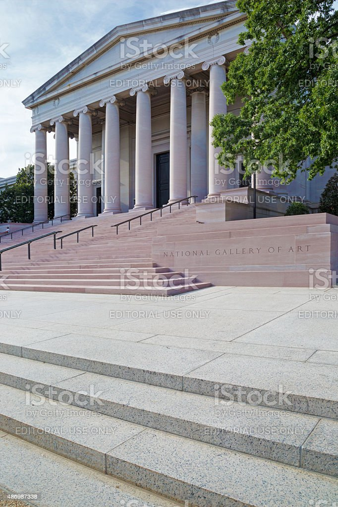 National Gallery in Washington D.C. stock photo